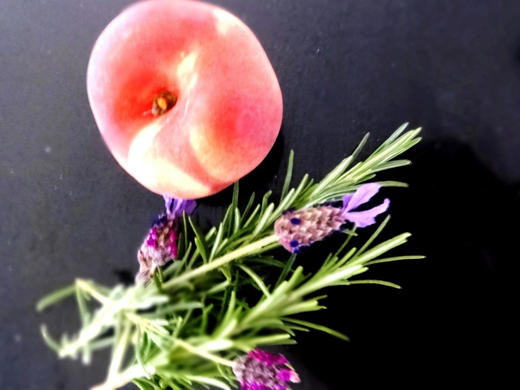 Peachy Keen for Peach Sorbet with Lavender & Rosemary