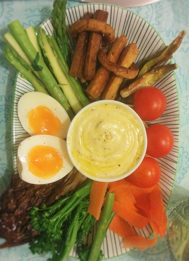 Bagna Cauda Dip With Assorted Vegetables Recipe — Dishmaps